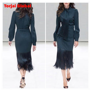 Top Quality Designer Clothing Bow Collar Work Suits