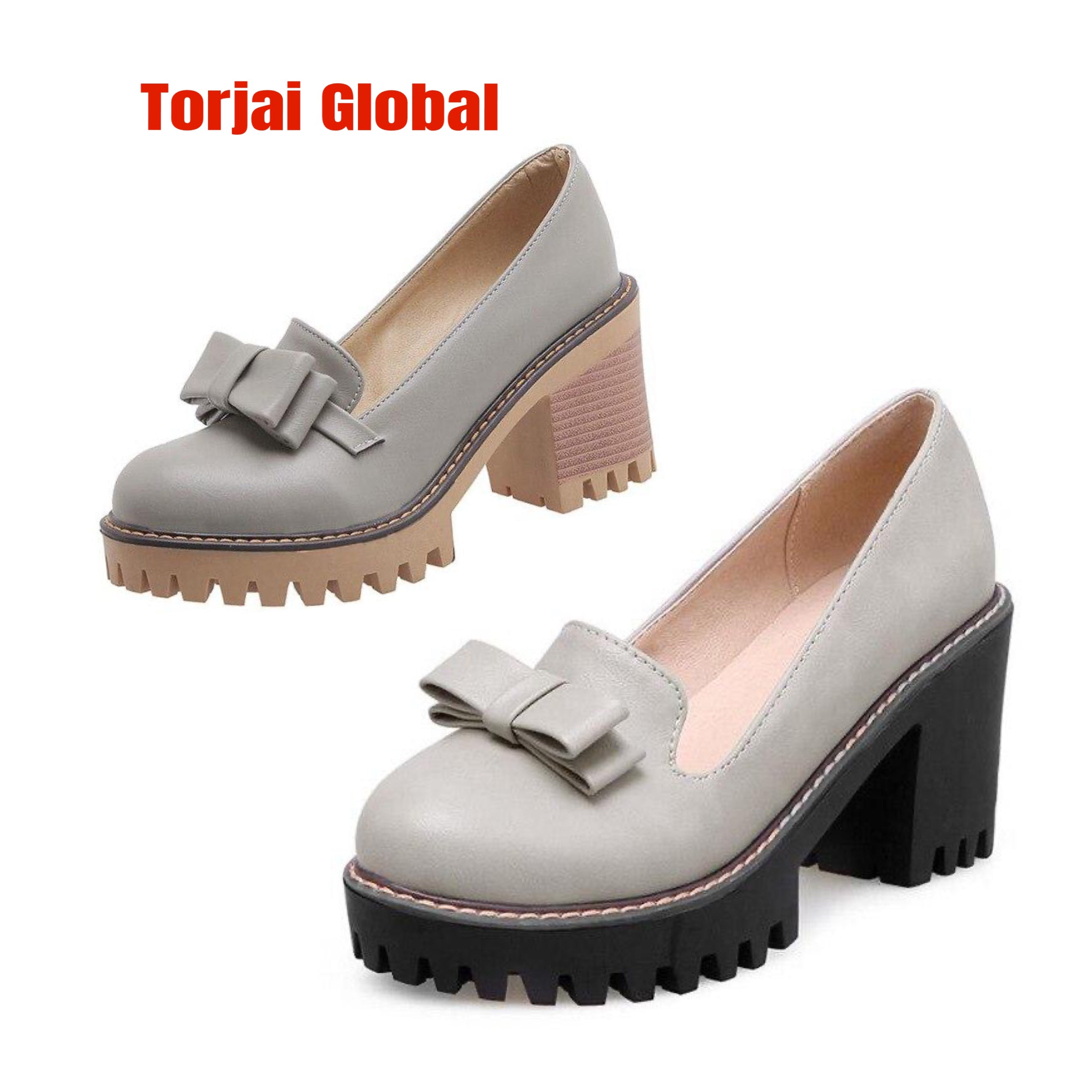 2020  British Style Thick Heels Women's Shoes - Torjai Global