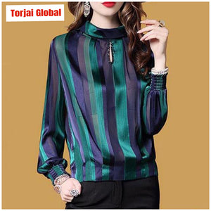 Loose High Quality Women's Silk Tops