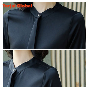 Elegant Women's Silk Blouse