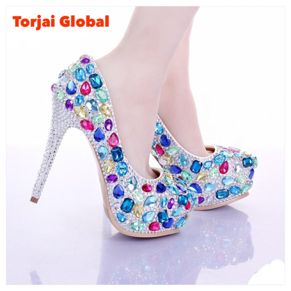 Multi Crystal Luxury Bridal Shoes