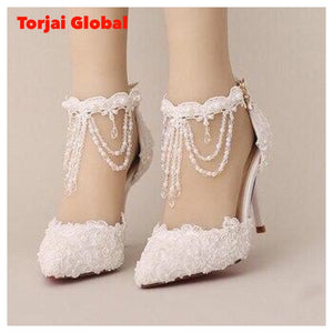 New Pearl Crystal Bridal Shoes