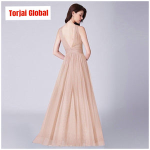 Elegant A-Line V-Neck Sleeveless Women's Dresses 2020