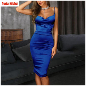 2020 Women's Elegant Slim Fit Spaghetti Strap party Dress