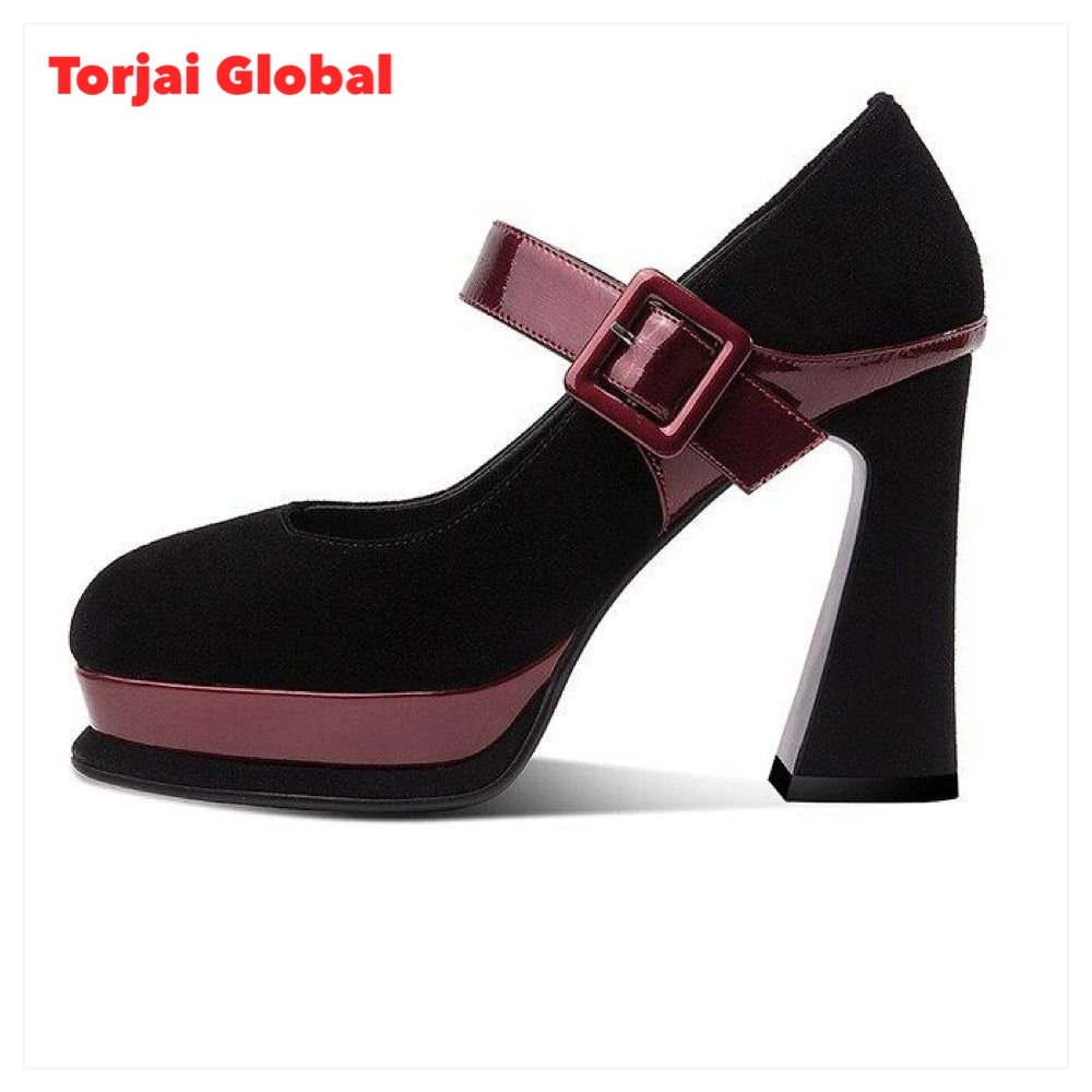2021 Top Quality Thick Ladies High Heels