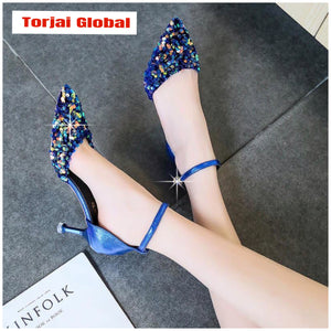 2020 Women's High Thin Heel Bridal Shoes