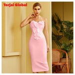 Women's Pink Knee-length Party Dress
