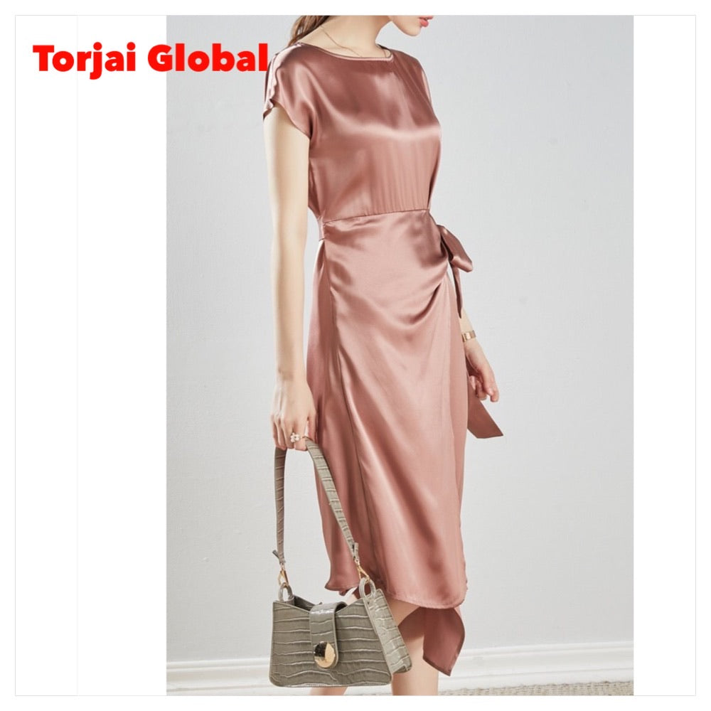 Women's Elegant Silk Dress