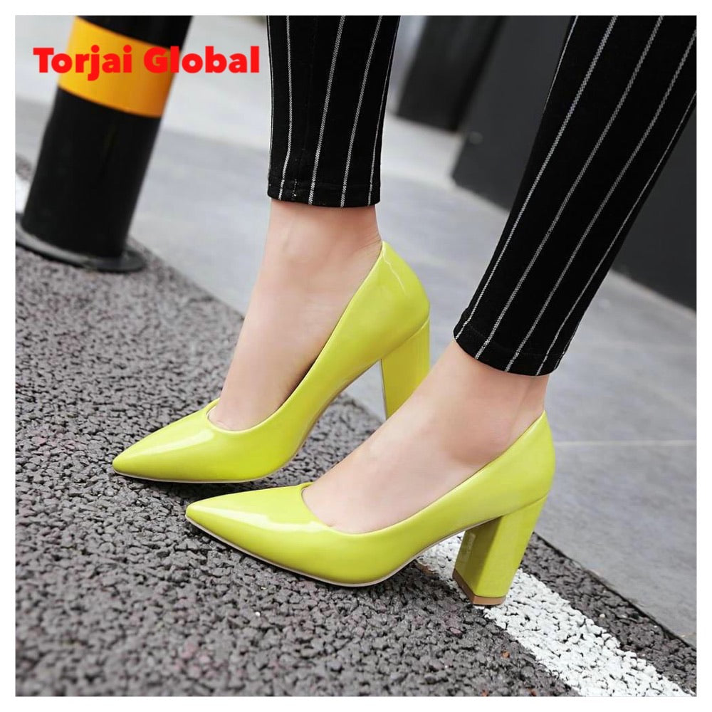 High Heels Patent Leather Women's Shoes