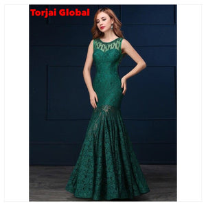 Green Elegant Evening/ Wedding dress