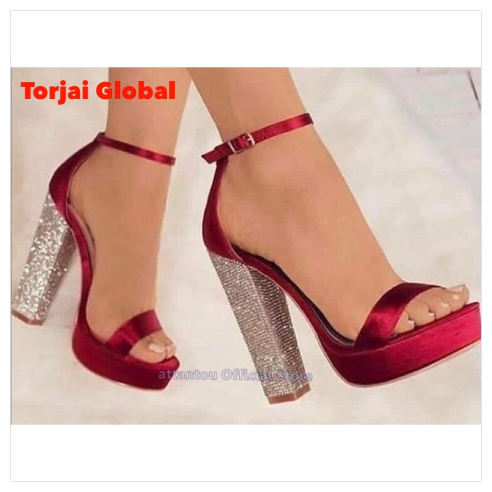 2020 Crystal Heeled High Heels For Ladies