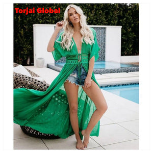 Women Bikini Cover Up Long Swimwear