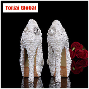 Pearl Women Wedding Shoes