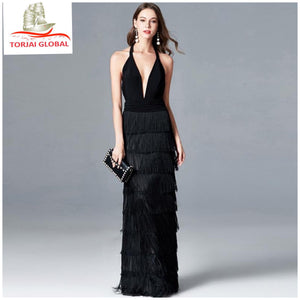 Women's Deep V-Neck Party Dress