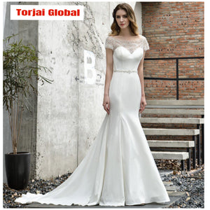 2020 Elegant Beaded Wedding Dress - Torjai Global