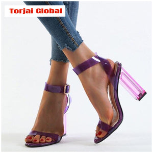 2020 New Highh Quality Transparent Crystal High Heels - Torjai Global