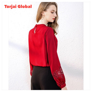 Top Quality Designer Runway Embroidered Blouses