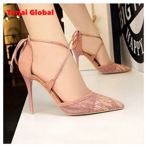 Women's Lace High Heels