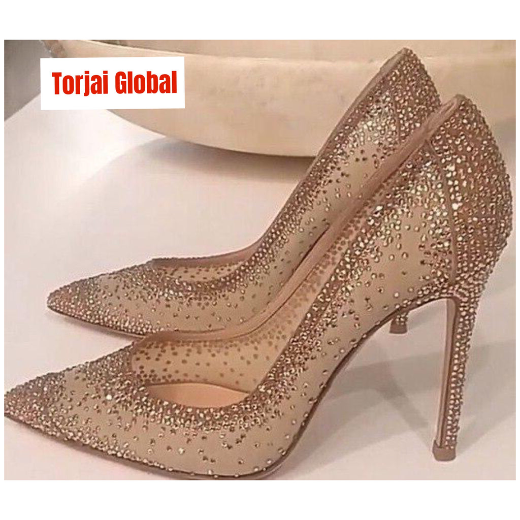 Crystal Bling Ladies Shoes