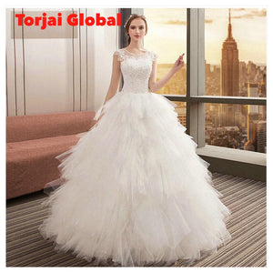 New O-Neck Elegant Wedding Dress