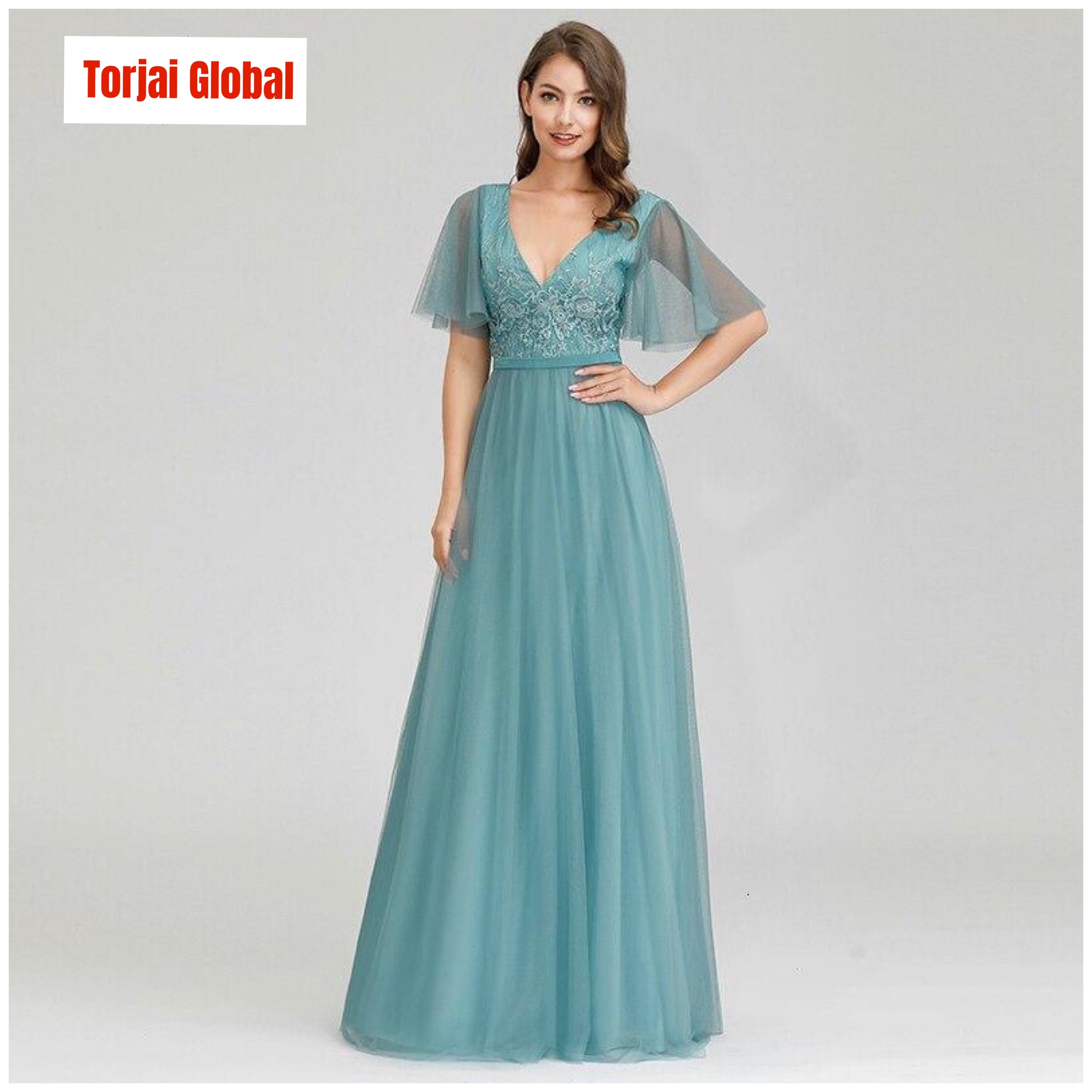 Women's  Blue Evening Dress