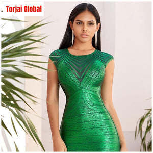 2020 New Green Lace Women's  Party Dress - Torjai Global