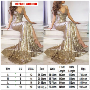 Women Long Prom Evening Party Wedding Dress