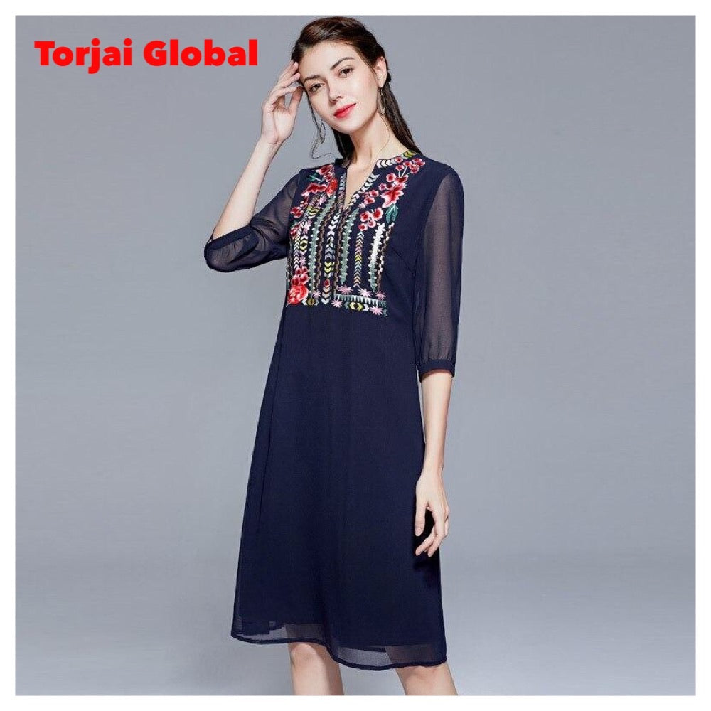 2020 Women's Luxurious Embroidered Dress