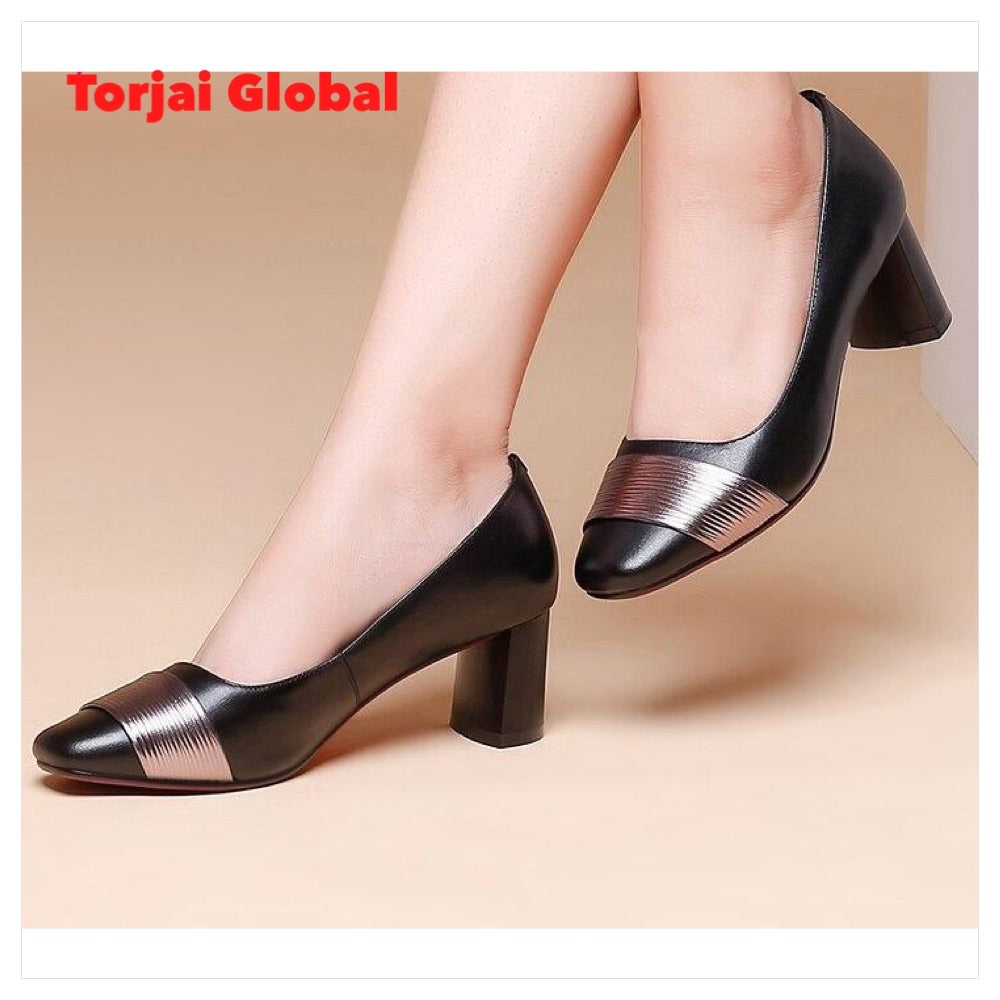 Elegant Leather Ladies Shoes