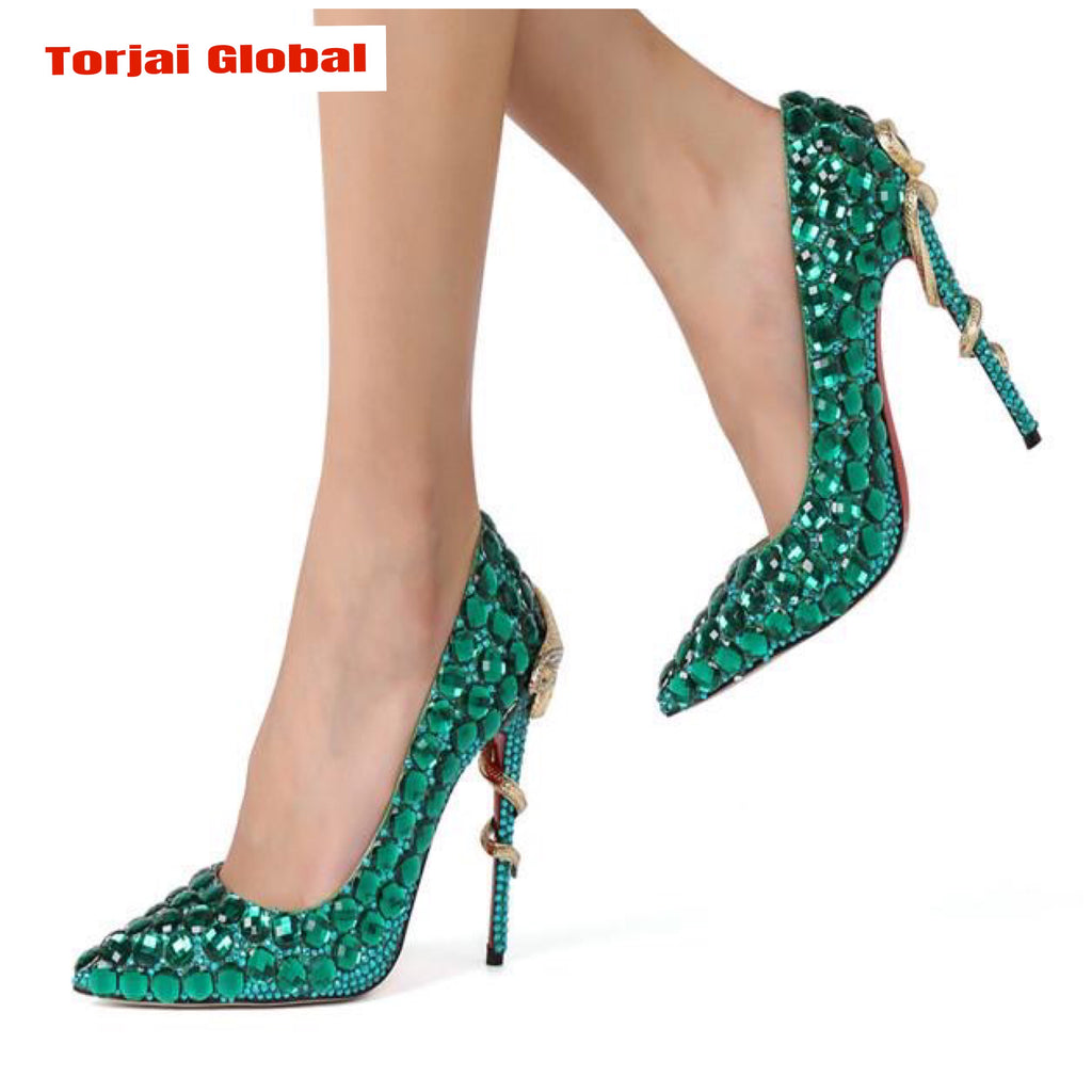2020 New Arrival Pointed Toe High Heels Bridal Shoes