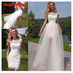 Lace Wedding Dresses With Detachable Skirt