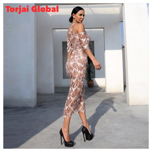 High Neck Elegant Party Dress