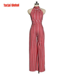 Elegant Long Women's Backless Jumpsuit