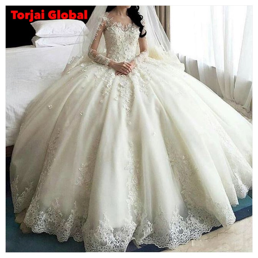 New Arrival Crystal Flower Bridal Dress