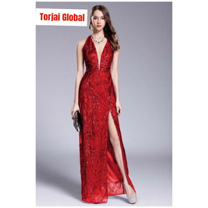 New Arrival Women's V-Neck Sleeveless Party Dress