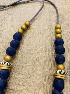 Cobalt Blue with African Brass