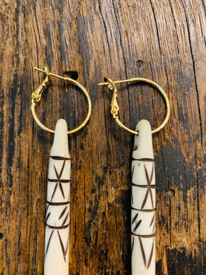 Bone Spike Earrings