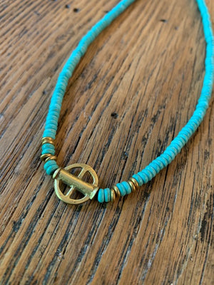 Short Turquoise Everyday Necklace