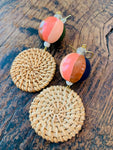 HandPainted + Rattan Earrings