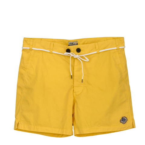 Short YELLOW toile Italienne