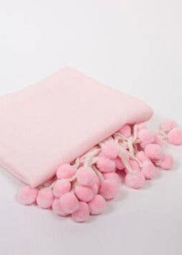 Pink Pom Throw