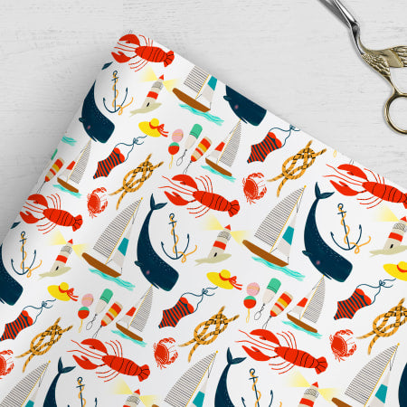 Nautical Gift Wrap Sheets