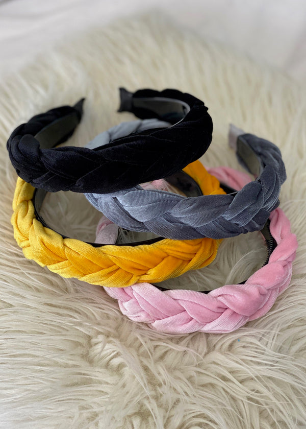 Braided Velvet Headbands