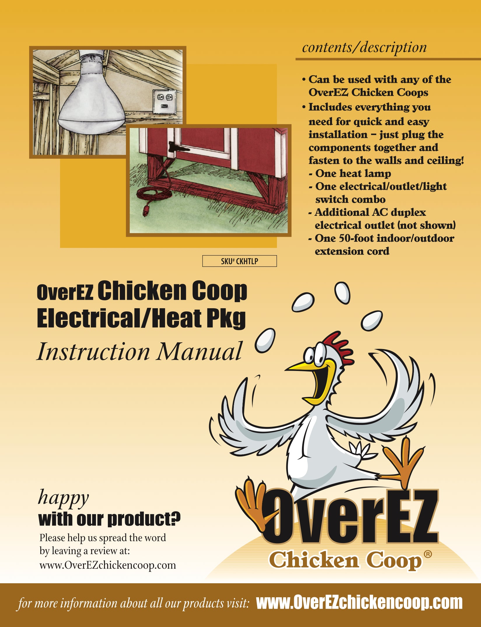 OverEZ Chicken Coop Electrical/Heat Package Instructions