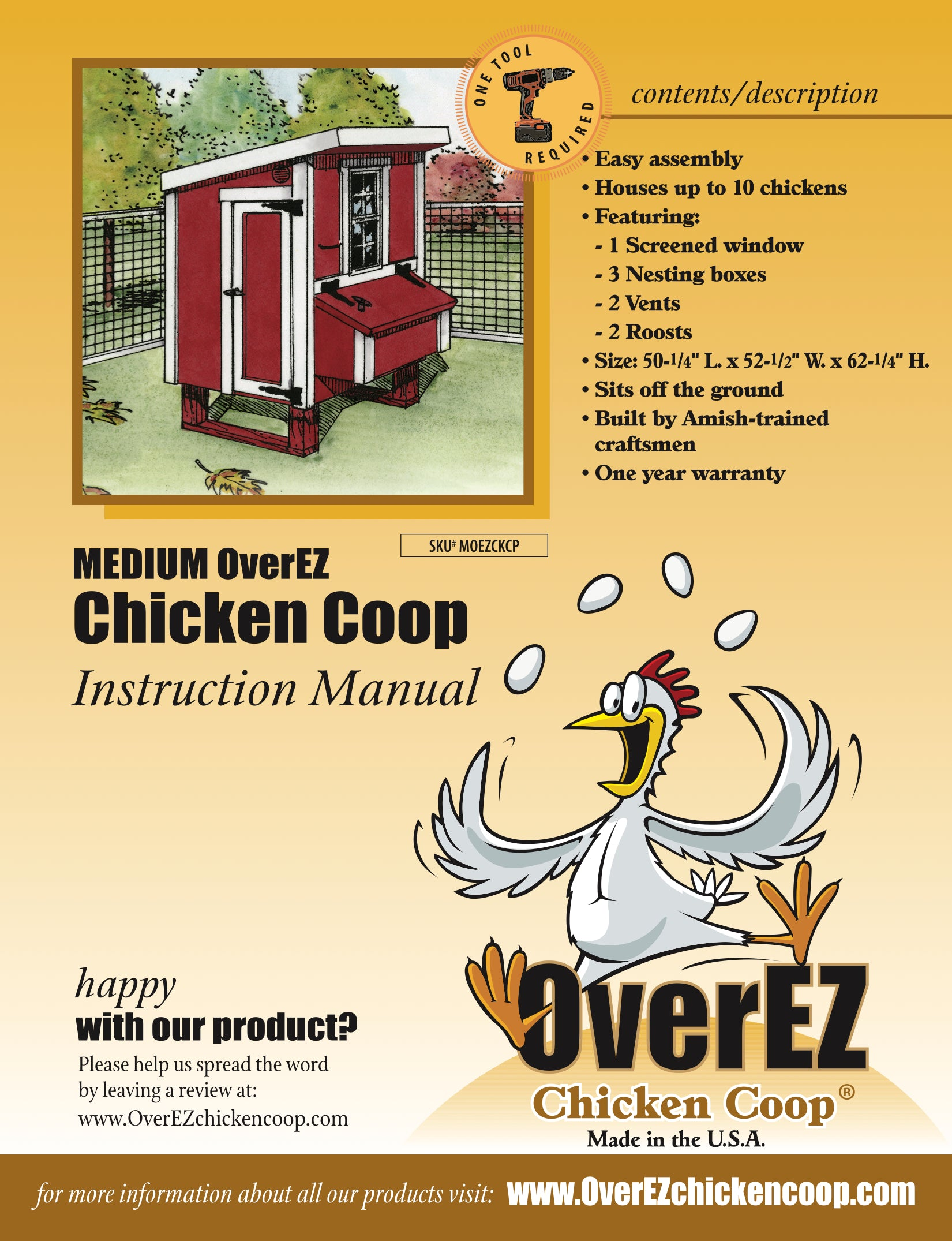 Medium OverEZ Wire Chicken Coop Instructions