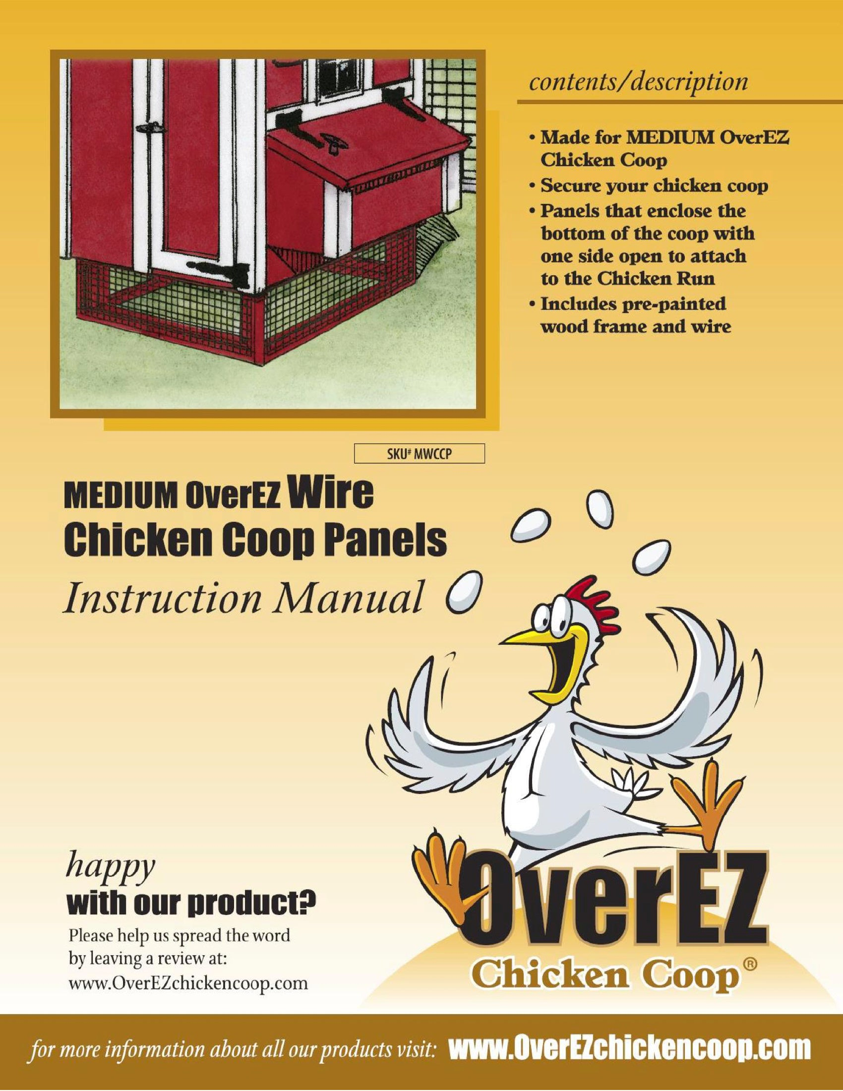 Medium OverEZ Wire Chicken Coop Panels Instructions
