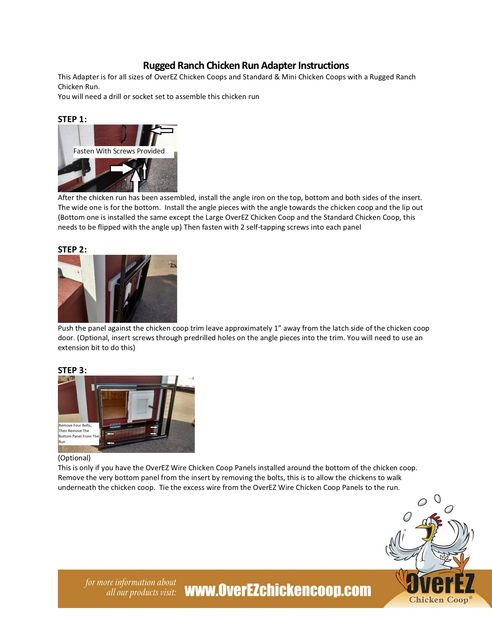 Rugged Ranch Chicken Run 7x16x4 Instructions 5