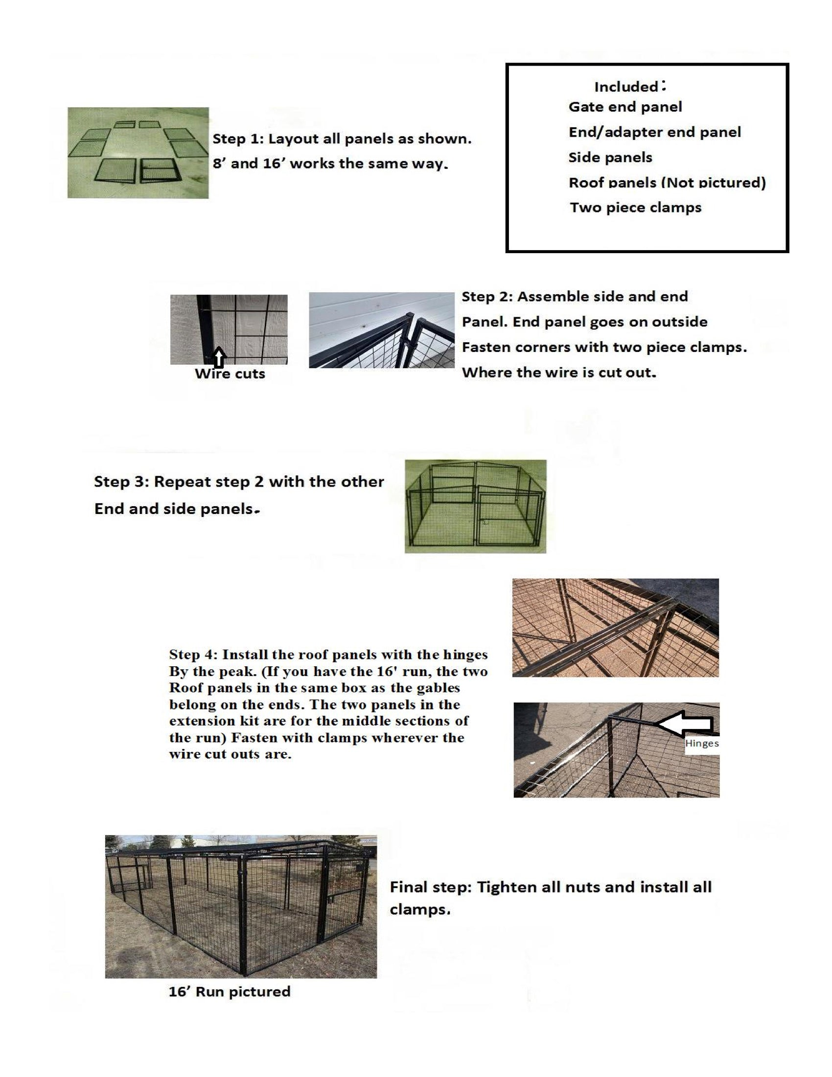 Rugged Ranch Chicken Run 7x16x4 Instructions 3