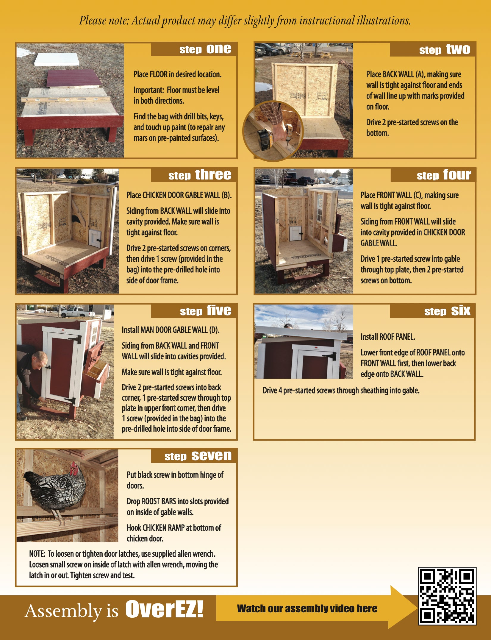 Small OverEZ Chicken Coop Instructions