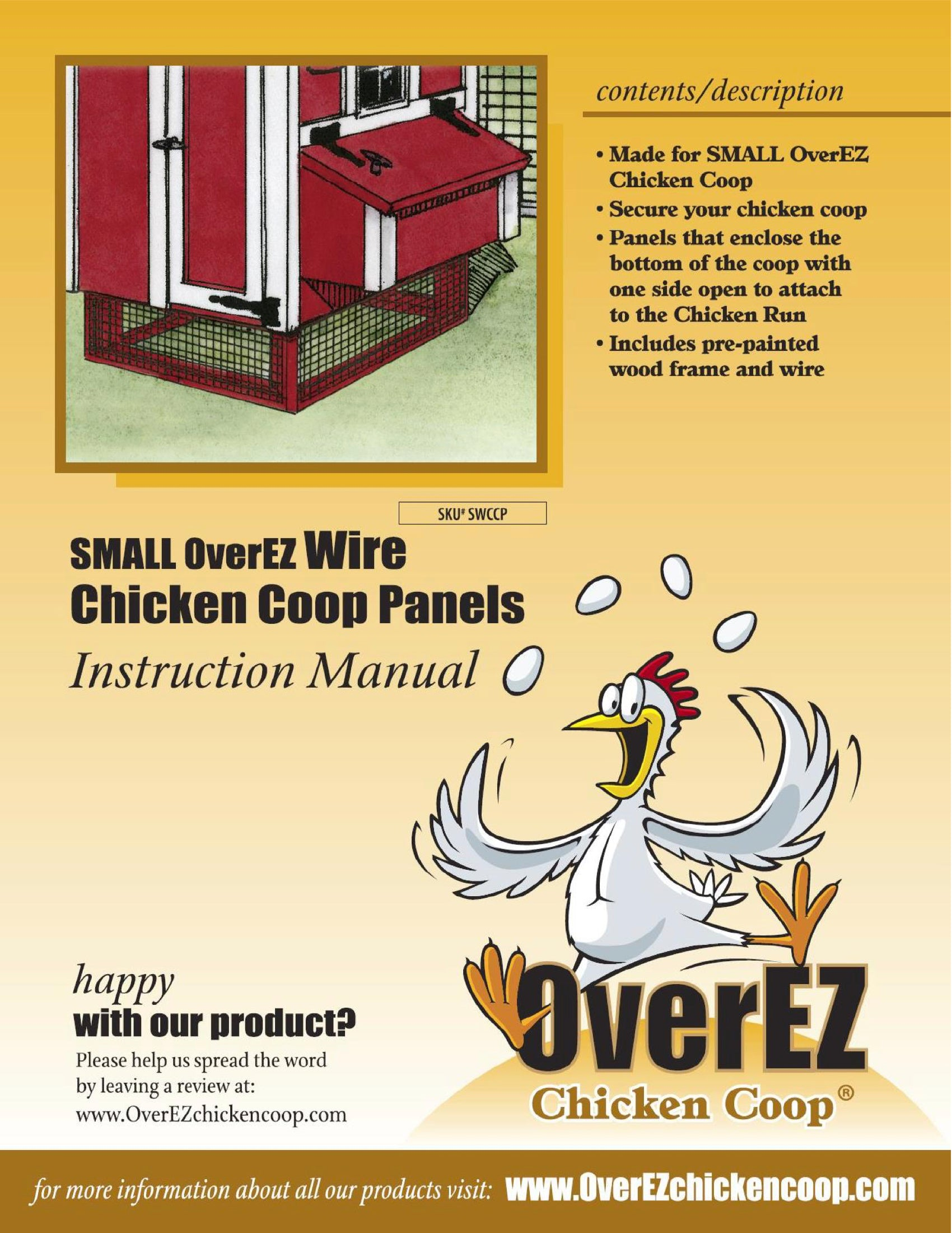 Small OverEZ Wire Chicken Coop Panels Instructions